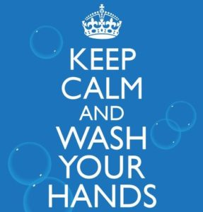 Keep Calm Wash Your Hands Poster