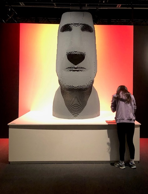 The Art of the Brick - Easter Island Head