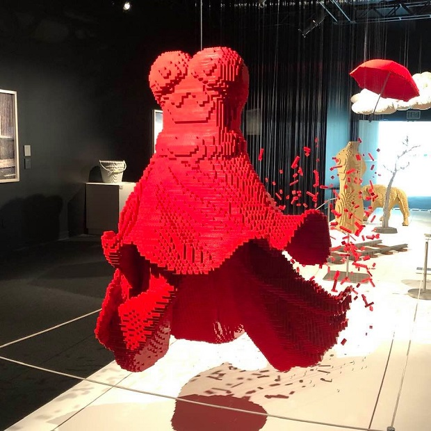 The Art of the Brick - Red Dress