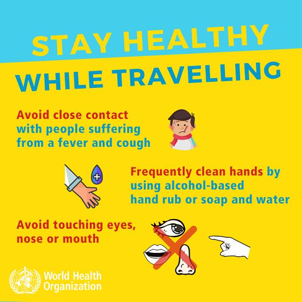 World Health Organization Travel Tips for Coronavirus