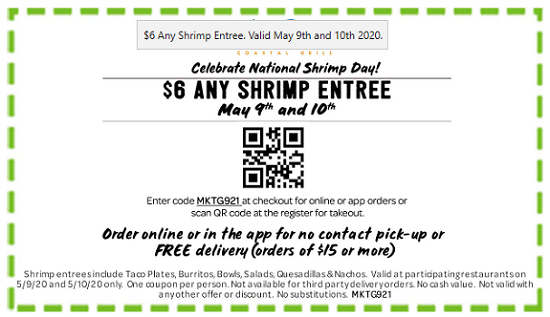 National Shrimp Day Rubio's Coupon