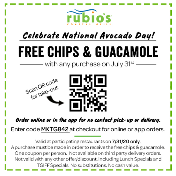 National Avocado Day - coupon