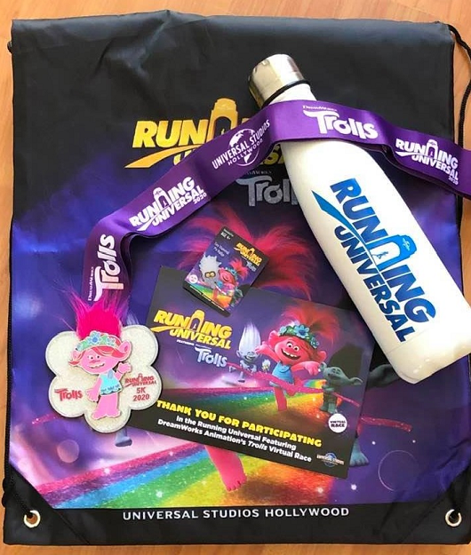 Trolls 5K Virtual Race Goodie Bag