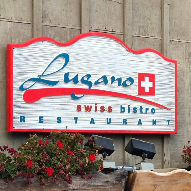 Lugano Swiss Bistro - Signage