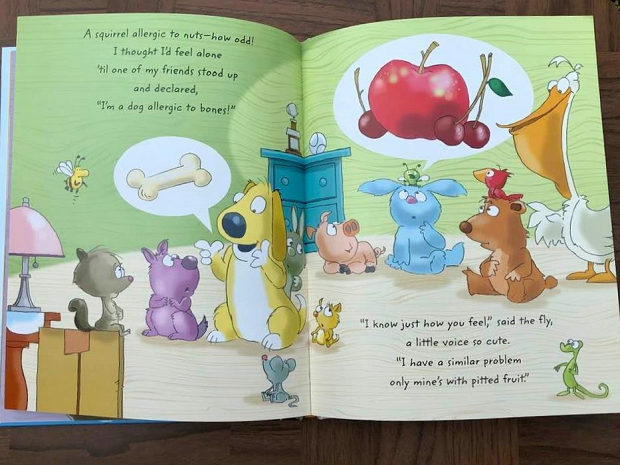 Nutley the Nut-free Squirrel - book spread