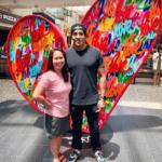 Ruben Rojas Creates Art with Heart at Westfield Topanga