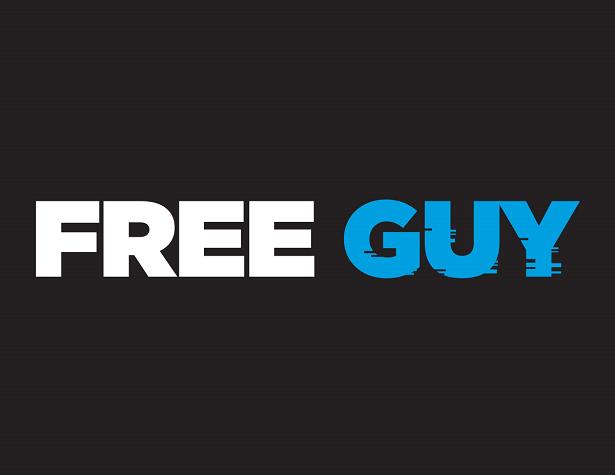 FreeGuy_LineLogo_WhiteAndPMS299onBlack