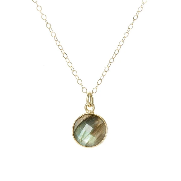 Good Vibes Labradorite Stone Necklace