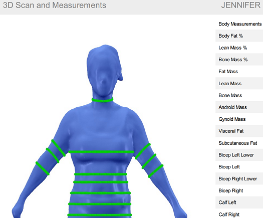 Snippet of 3D Report