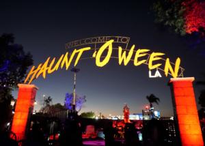 Haunt O' Ween LA - sign